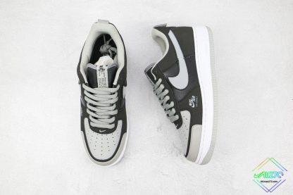 Nike Air Force 1 Shadow Black Shadow Grey tongue