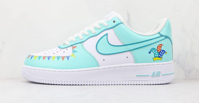 Nike Air Force 1 White Teal