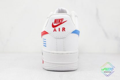 Air Force 1 Low White Red Blue Black heel