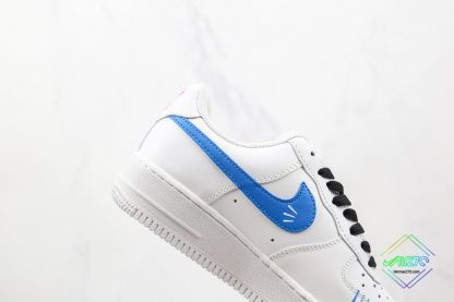 Air Force 1 Low White Red Blue Black lateral swoosh