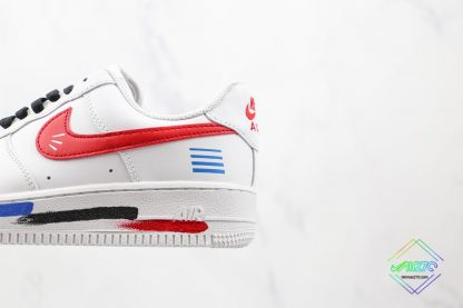 Air Force 1 Low White Red Blue Black medial side