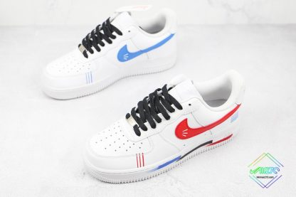 Air Force 1 Low White Red Blue Black overall