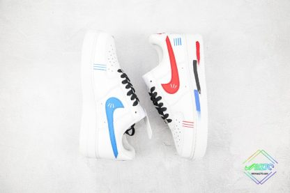 Air Force 1 Low White Red Blue Black swoosh