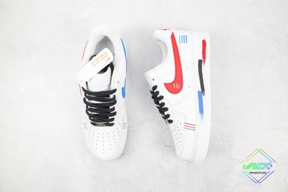 Air Force 1 Low White Red Blue Black tongue