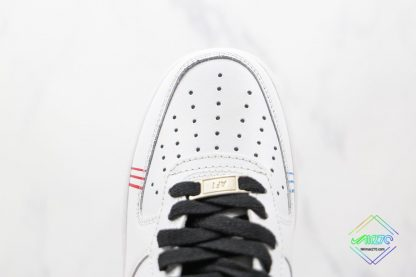 Air Force 1 Low White Red Blue Black vamp