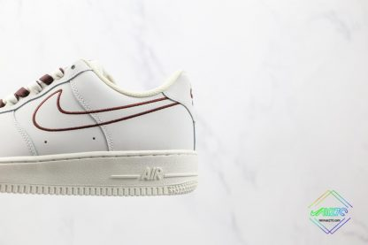 NK Air Force 1 White Burgundy Outline for sale