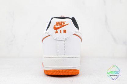 Nike Air Force 1 Low White Orange heel