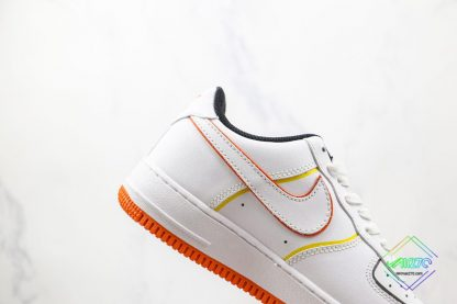 Nike Air Force 1 Low White Orange lateral side