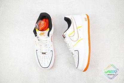Nike Air Force 1 Low White Orange tongue
