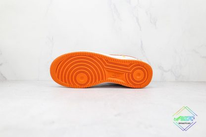 Nike Air Force 1 Low White Orange underfoot