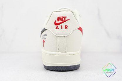 Nike Air Force Chicago Bulls White Black heel