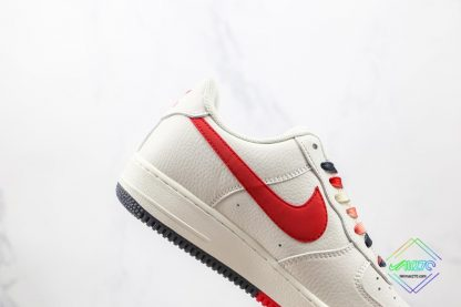 Nike Air Force Chicago Bulls White Black red lateral