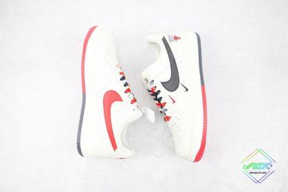 Nike Air Force Chicago Bulls White Black swoosh