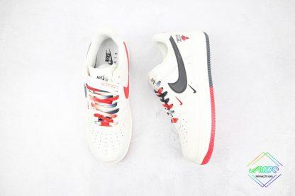 Nike Air Force Chicago Bulls White Black tongue
