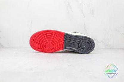 Nike Air Force Chicago Bulls White Black underfoot