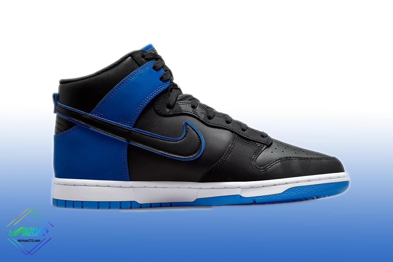 Nike Dunk High Black Hyper Royal 2021