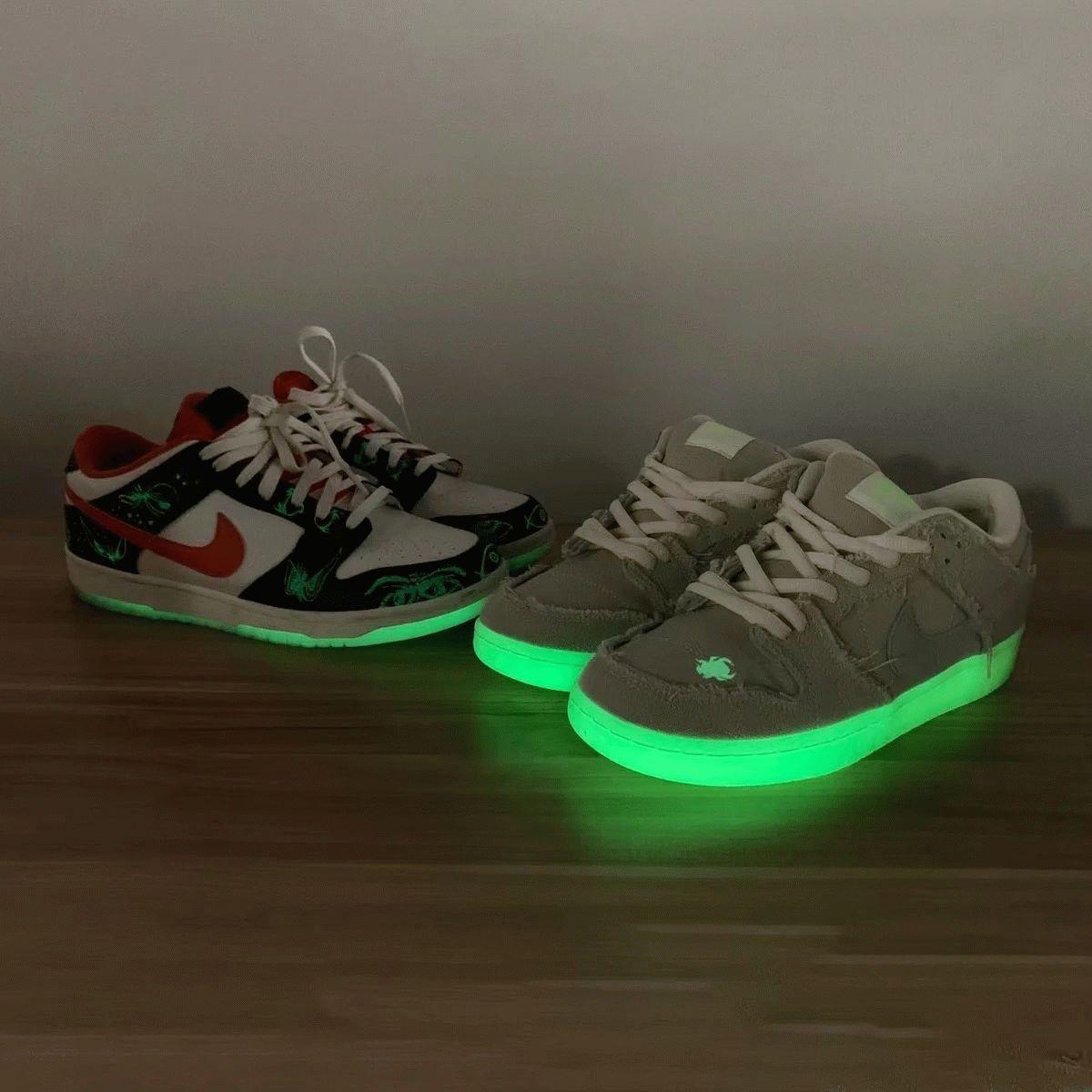 Spooky Nike SB Dunk Low Mummy glow in the dark