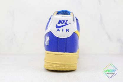 Undefeated Nike Air Force 1 Low Croc Royal Blue heel