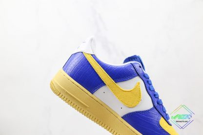 Undefeated Nike Air Force 1 Low Croc Royal Blue lateral side