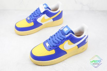 Undefeated Nike Air Force 1 Low Croc Royal Blue overall