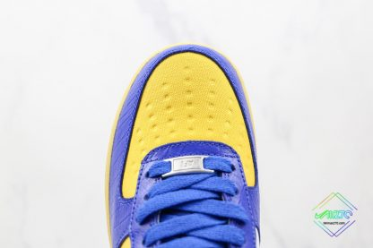 Undefeated Nike Air Force 1 Low Croc Royal Blue vamp